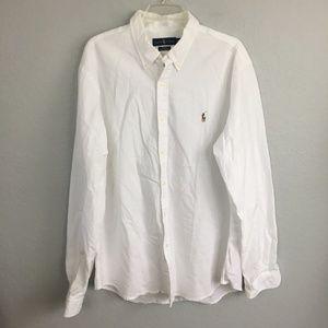 Ralph Lauren :Polo Slim Fit White button down- XXL